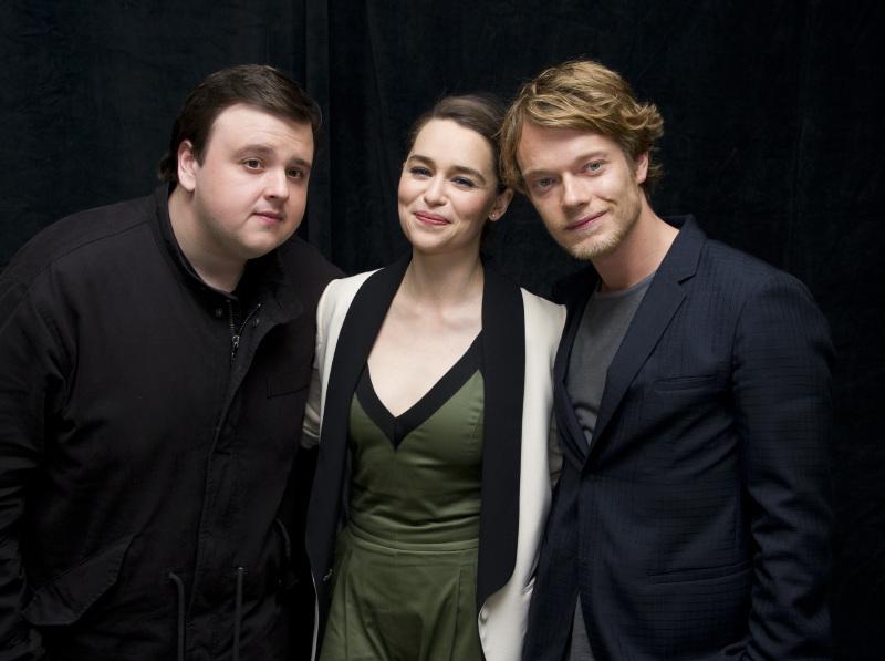 Game Of Thrones : Vignette (magazine) Alfie Allen, Emilia Clarke, John Bradley (II)