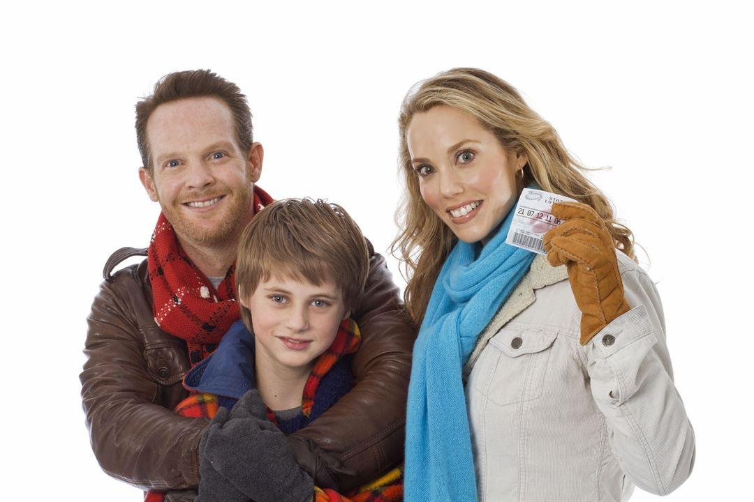 Lucky Christmas - Ein Hauptgewinn zu Weihnachten : Bild Elizabeth Berkley, Jason Gray-Stanford, Mitchell Kummen