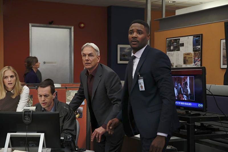 Bild Duane Henry, Emily Wickersham, Mark Harmon, Sean Murray