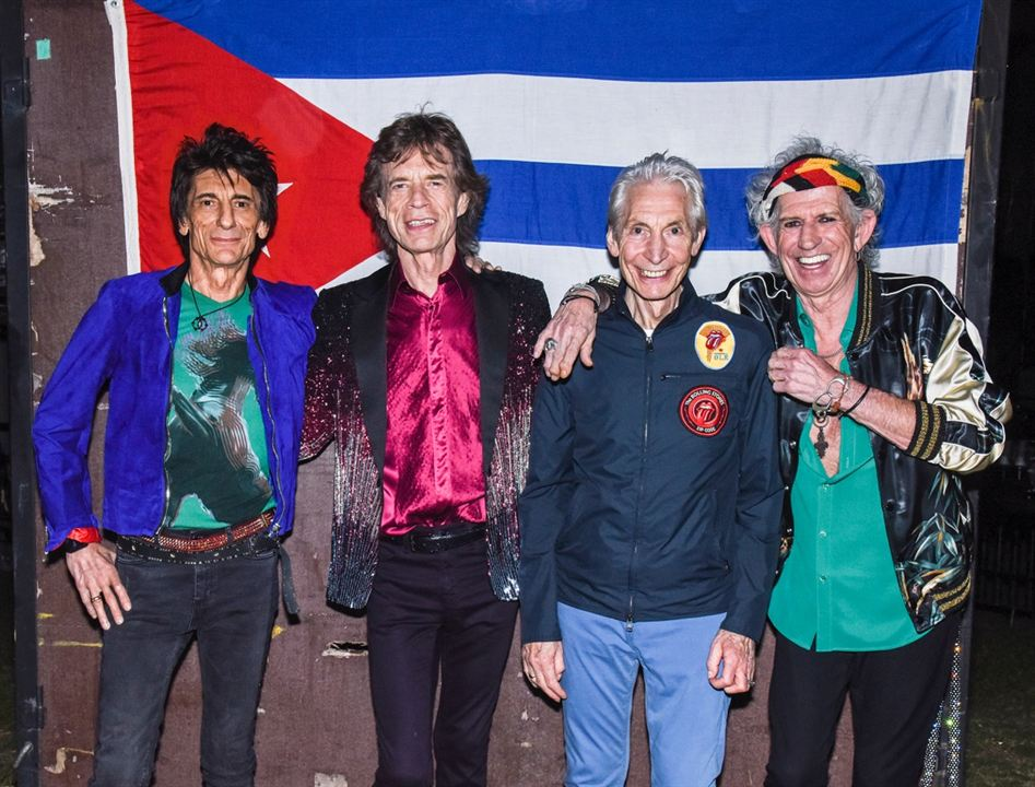 Ciné Music Festival: Rolling Stones in Cuba - Havana Moon - 2017 : Bild Charlie Watts, Keith Richards, Mick Jagger, Ronnie Wood, The Rolling Stones