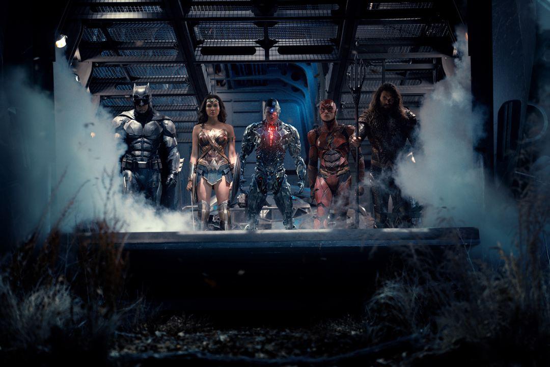Justice League : Bild Ben Affleck, Ezra Miller, Gal Gadot, Jason Momoa, Ray Fisher