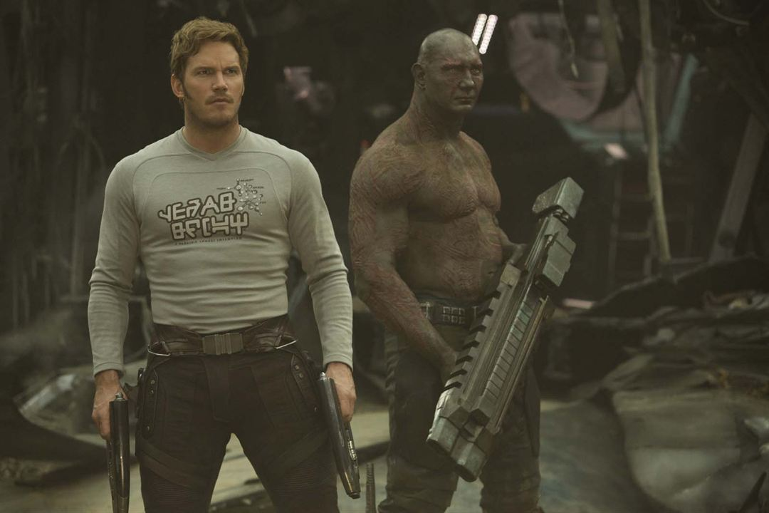 Guardians Of The Galaxy Vol. 2 : Bild Chris Pratt, Dave Bautista