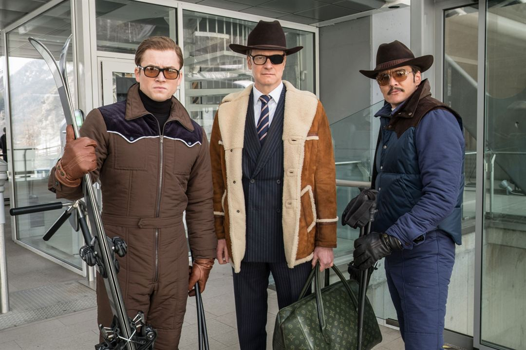Kingsman 2: The Golden Circle : Bild Colin Firth, Pedro Pascal, Taron Egerton