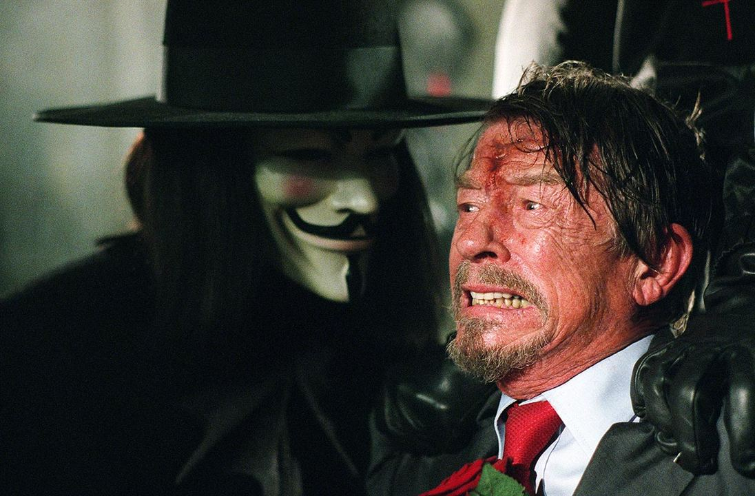 V wie Vendetta : Bild Hugo Weaving, John Hurt