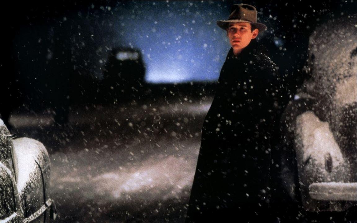 Schnee, der auf Zedern fällt : Bild Ethan Hawke