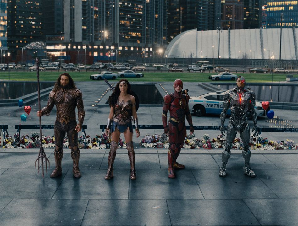 Justice League : Bild Ezra Miller, Gal Gadot, Jason Momoa, Ray Fisher