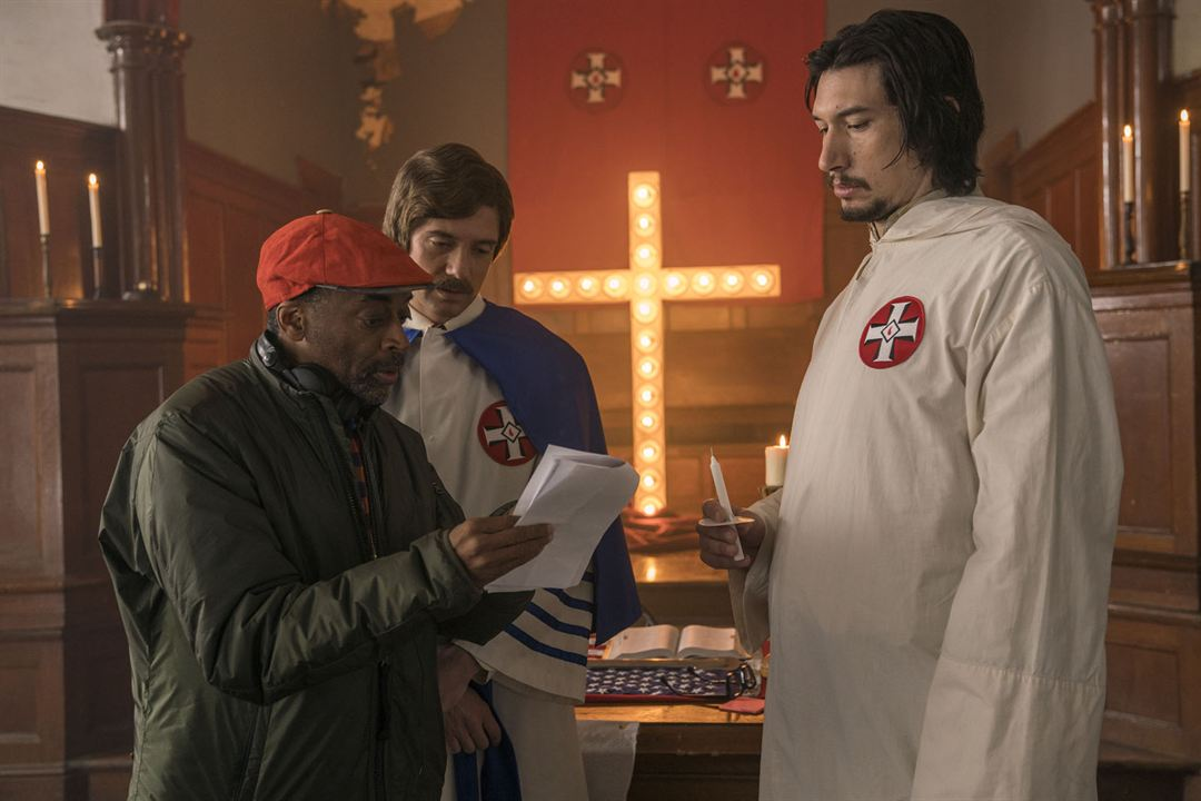BlacKkKlansman : Bild Adam Driver, Spike Lee, Topher Grace