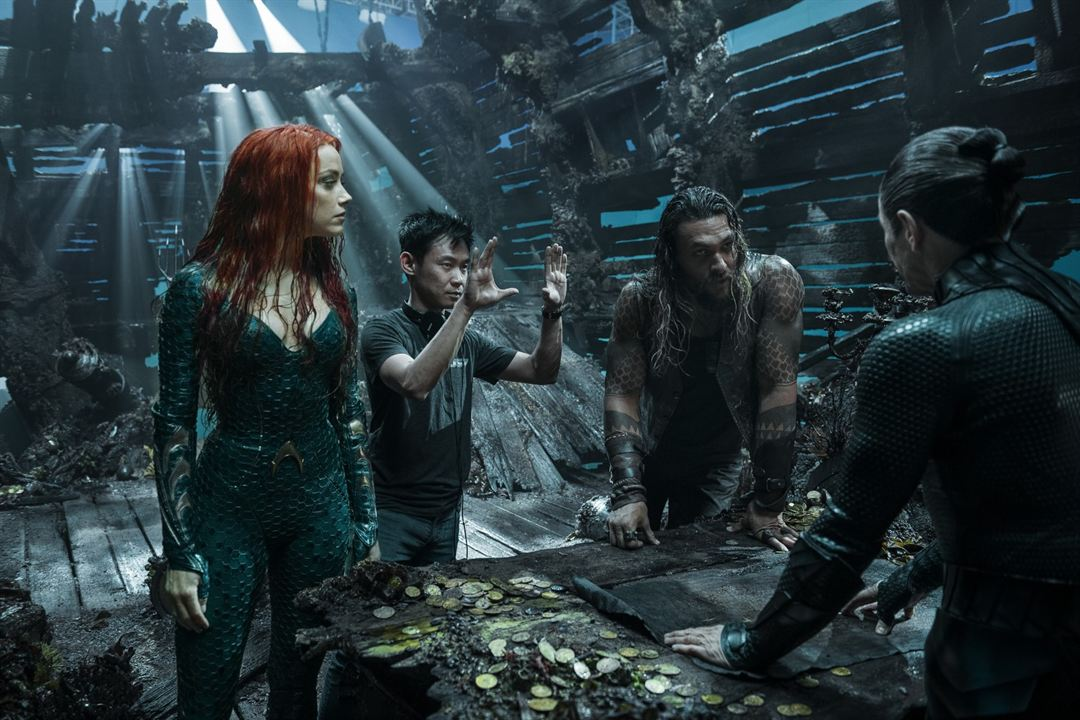 Aquaman : Bild Amber Heard, James Wan, Jason Momoa