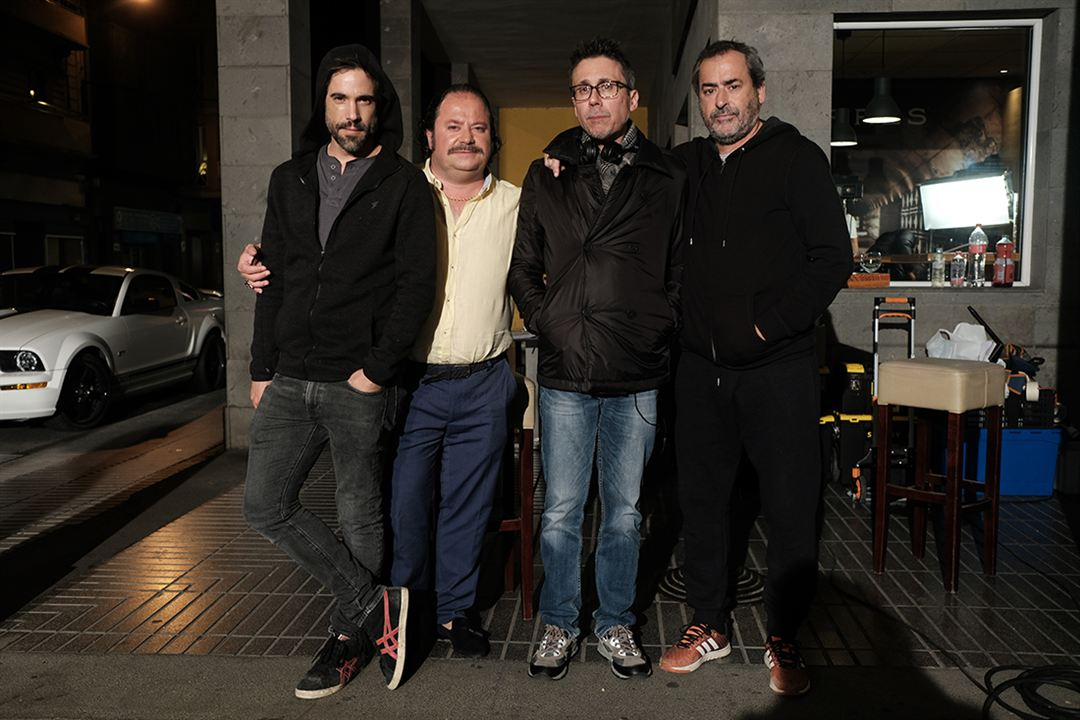 La Estrategia del pequinés : Bild Elio Quiroga, Ismael Fritschi, Jorge Bosch, Unax Ugalde