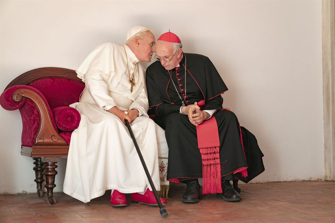 Die zwei Päpste : Bild Anthony Hopkins, Jonathan Pryce