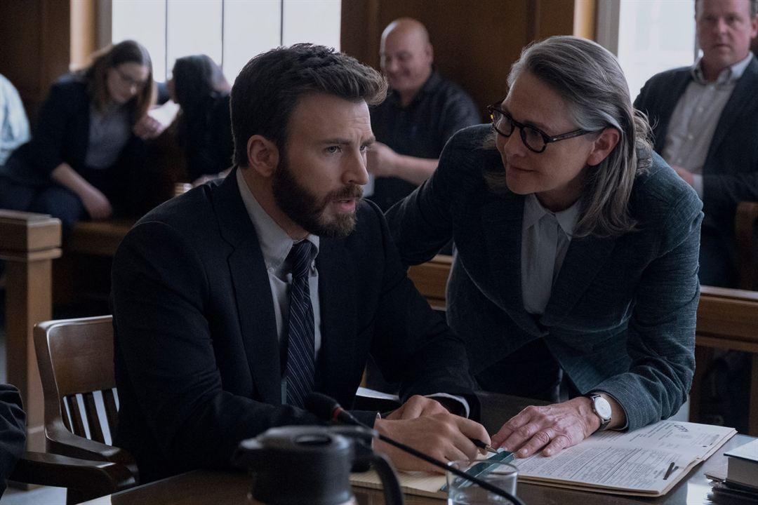 Bild Cherry Jones, Chris Evans