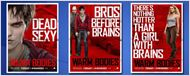 """Bros Before Brains"": Fünf neue Poster zur Zombie-Romanze ""Warm Bodies"""
