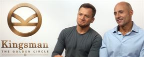 """Kingsman 2: The Golden Circle"": Taron Egerton, Mark Strong und Colin Firth im FILMSTARTS-Interview"