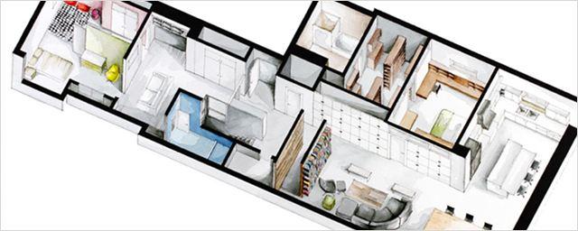 Kunstprojekt: In welches dieser sechs Film-Apartments würdet ihr am liebsten einziehen?