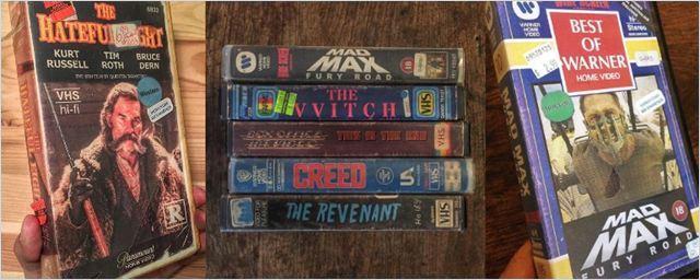 Wer würde sich diese Schönheiten nicht ins Regal stellen? So sähen die Cover von aktuellen Blockbustern aus, wenn sie auf VHS erscheinen würden