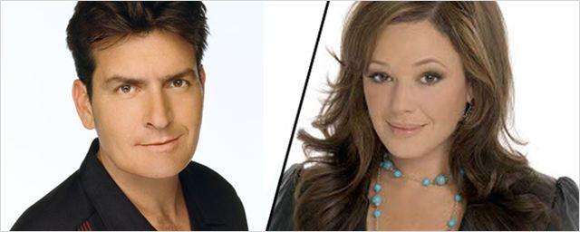 """Charlie Sheen und """"King of Queens""""-Star Leah Remini spielen Sohn und Stiefmutter in """"Mad Families"""""""