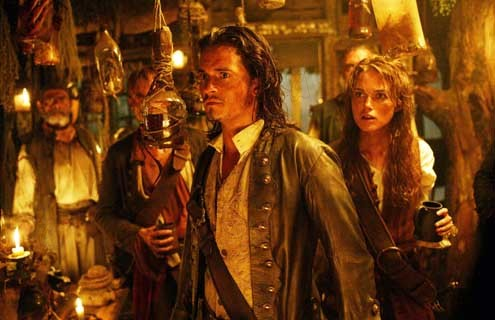 Pirates of the Caribbean - Fluch der Karibik 2 : Bild Keira Knightley, Orlando Bloom