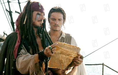 Pirates of the Caribbean - Fluch der Karibik 2 : Bild Johnny Depp, Orlando Bloom