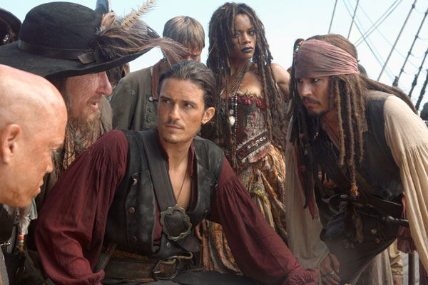 Pirates Of The Caribbean - Am Ende der Welt : Bild Geoffrey Rush, Johnny Depp, Mackenzie Crook, Naomie Harris, Orlando Bloom