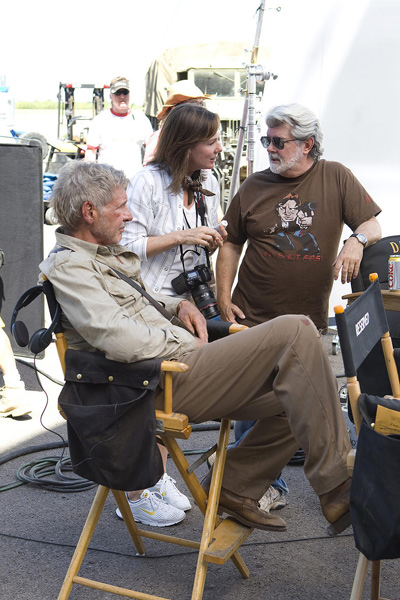 Indiana Jones und das Königreich des Kristallschädels : Bild George Lucas, Harrison Ford