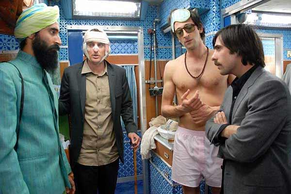 Darjeeling Limited : Bild Adrien Brody, Jason Schwartzman, Owen Wilson, Waris Ahluwalia