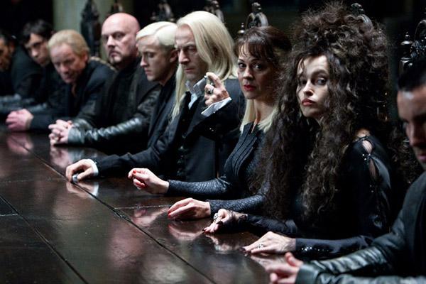 Harry Potter und die Heiligtümer des Todes - Teil 1 : Bild Helen McCrory, Helena Bonham Carter, Jason Isaacs, Tom Felton