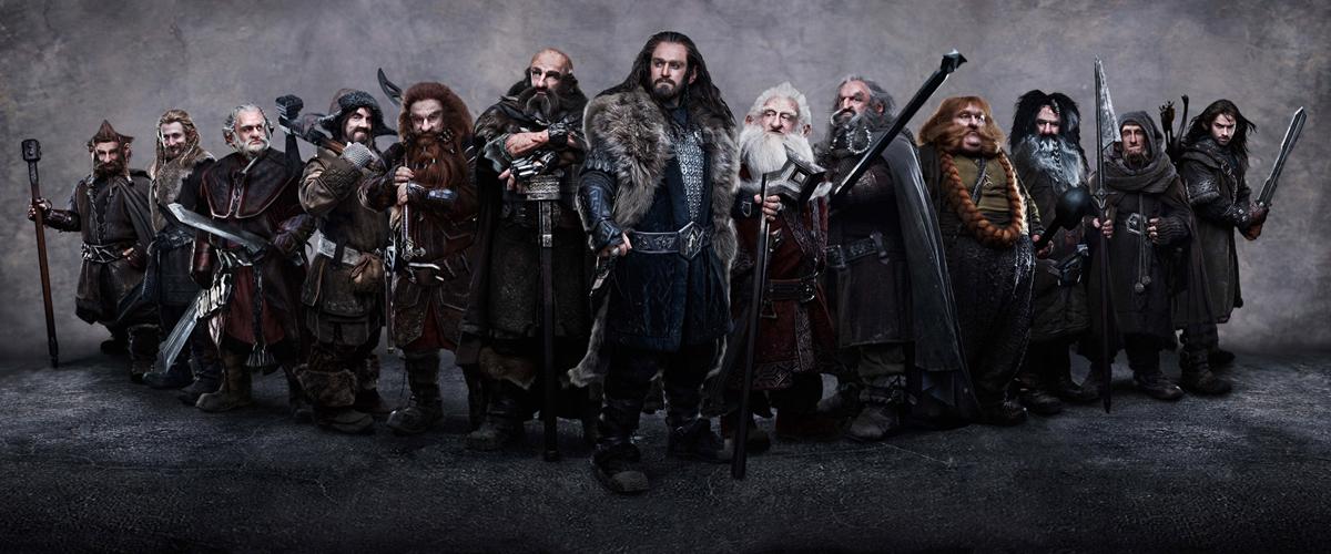 Der Hobbit: Eine unerwartete Reise : Bild Adam Brown, Aidan Turner, Dean O'Gorman, James Nesbitt, Jed Brophy