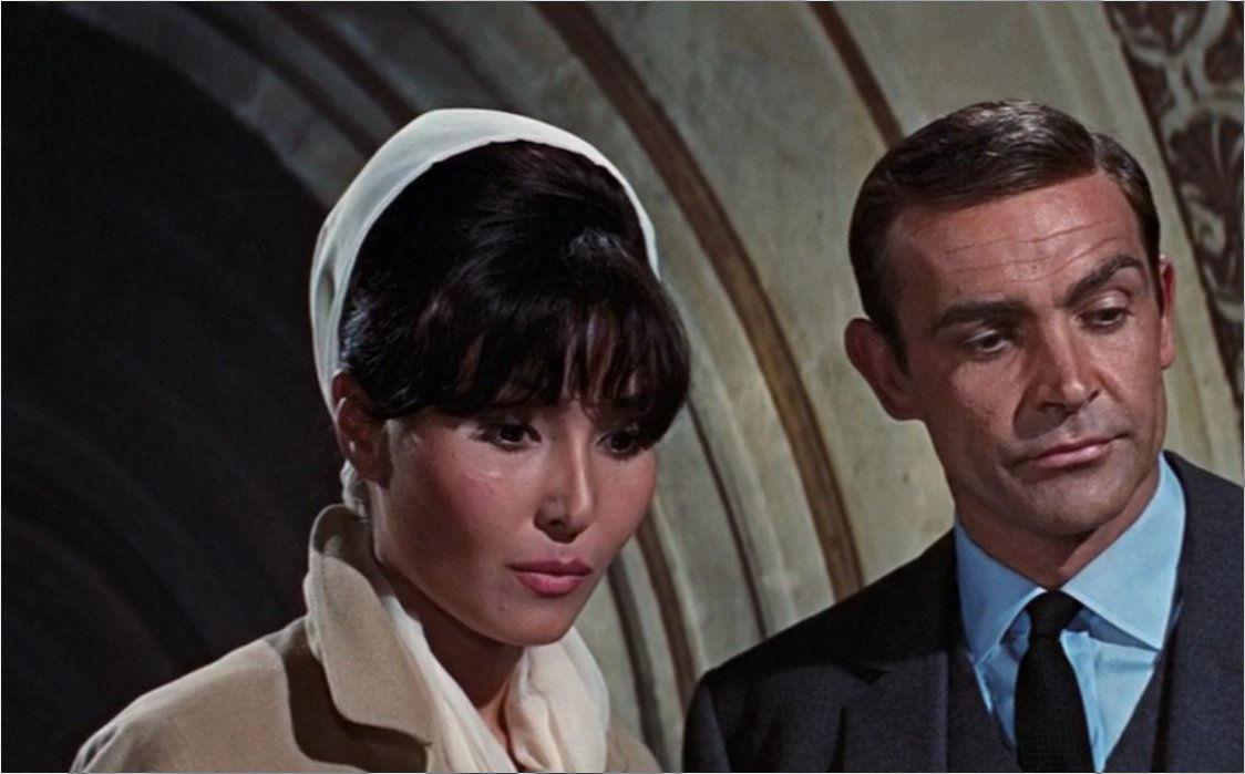 "Mademoiselle La Porte (Maryse Guy Mitsouko) in ""James Bond 007 - Feuerball"""