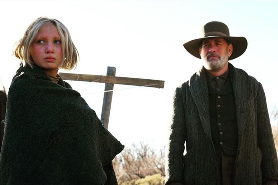 "Helena Zengel und Tom Hanks in ""News Of The World"""
