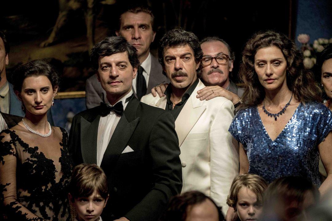 Il Traditore - Als Kronzeuge gegen die Cosa Nostra : Bild Fabrizio Ferracane, Goffredo Bruno, Maria Fernanda Cândido, Pierfrancesco Favino