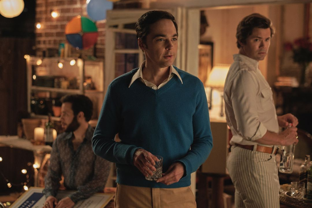 The Boys In The Band : Bild Andrew Rannells, Jim Parsons, Robin de Jesús