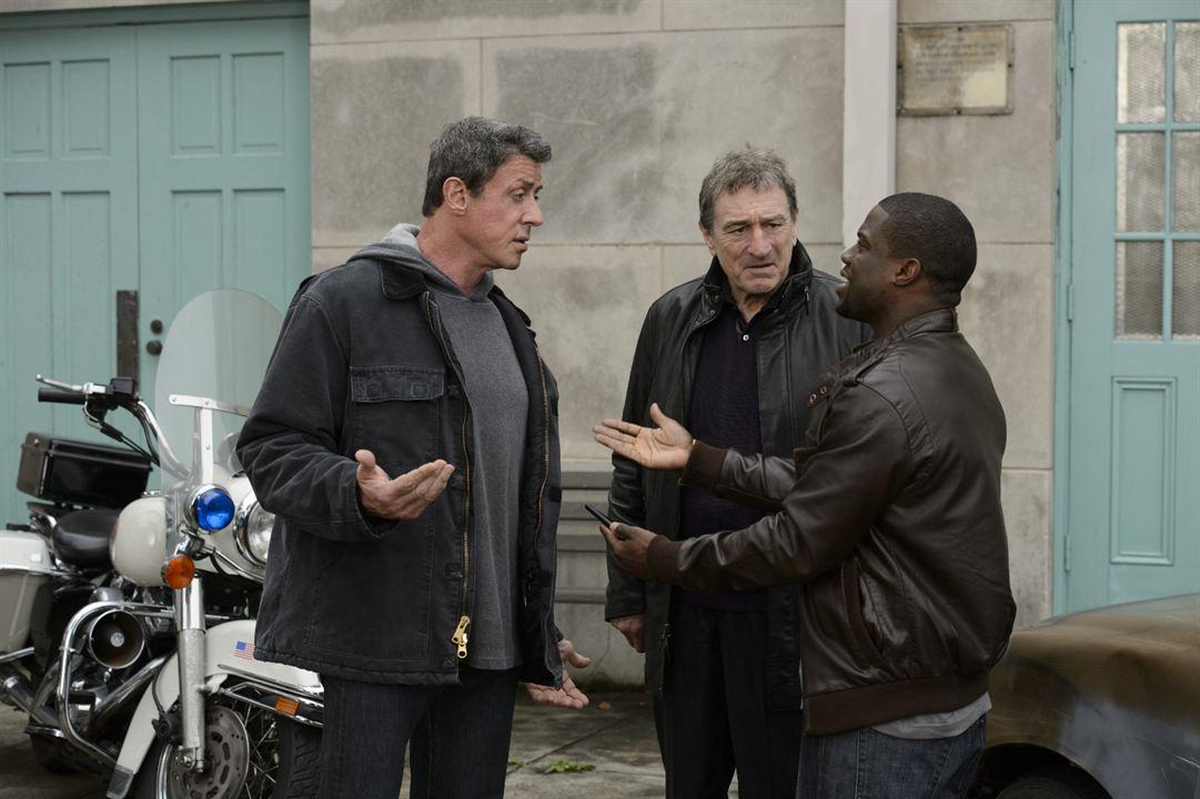 Zwei vom alten Schlag : Bild Kevin Hart, Robert De Niro, Sylvester Stallone