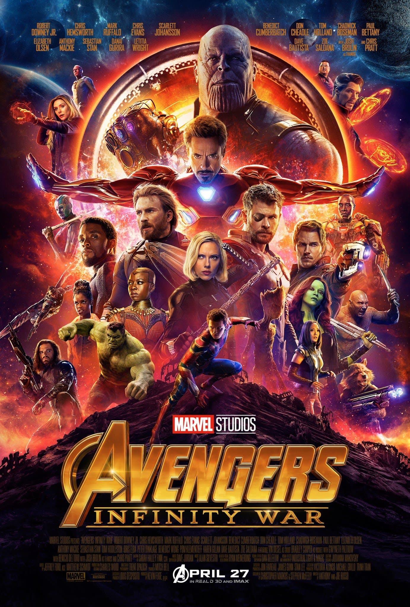 Bildergebnis für avengers infinity war plakat