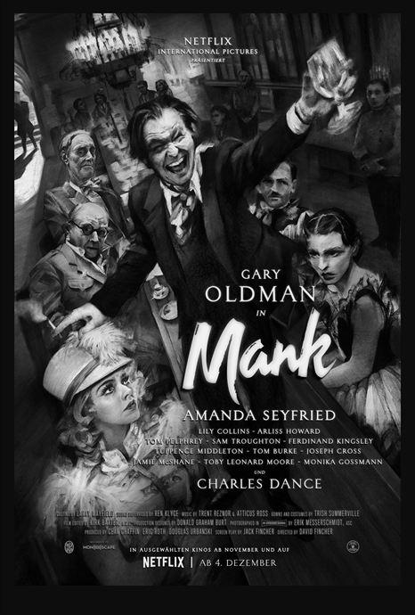 """Netflix de David Fincher: ¡El largo estreno de """"Mank"""" ya está aquí!  Noticias de cine"""